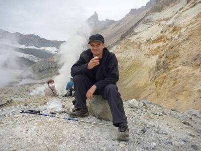 Обед в кратере Мутновки