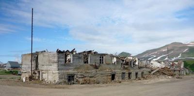 Разрушеное общежитие